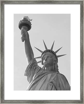 Liberty Mono Framed Print