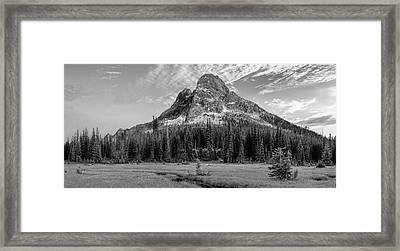 Framed Print featuring the photograph Liberty Mountain At Sunset by Jon Glaser
