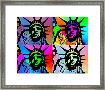 Liberty Of Colors - Mosaic Framed Print
