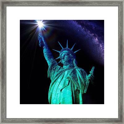 Liberty Sky Framed Print