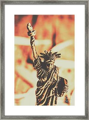 Liberty Will Enlighten The World Framed Print