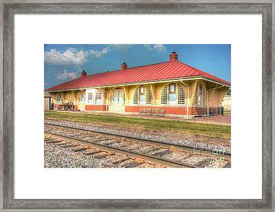 Liberty,ind Train Depot Framed Print