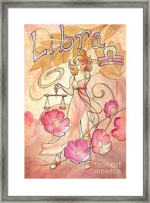 Libra Framed Print by Arwen De Lyon