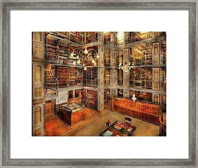 Library - A Literary Classic 1905 Framed Print by Mike Savad