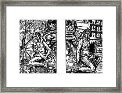 Library Angels Framed Print