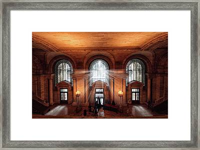 Library Entrance Framed Print