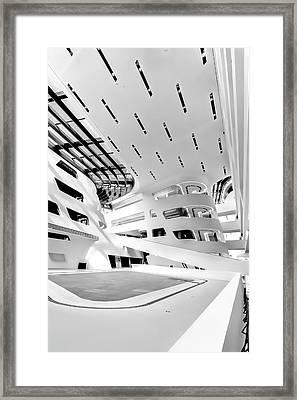 Library Interior 3 Zaha Hadid Wu Campus Vienna  Framed Print