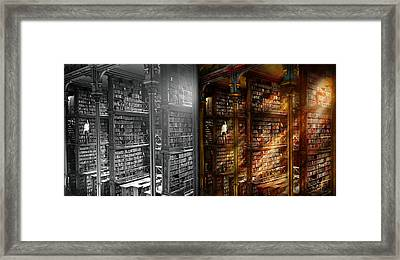 Library - It Starts With A Single Page 1920 - Side By Side Framed Print by Mike Savad