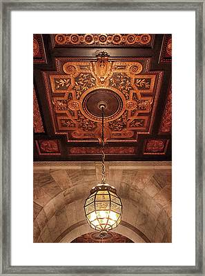 Framed Print featuring the photograph Library Light by Jessica Jenney