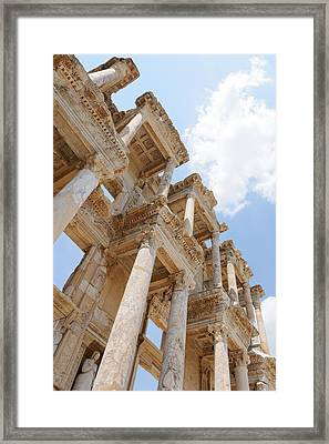 Library Of Celsus Framed Print