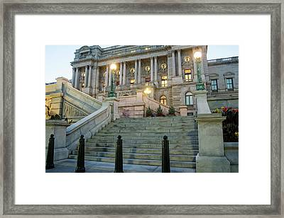 Framed Print featuring the photograph Library Of Congress by Greg Mimbs