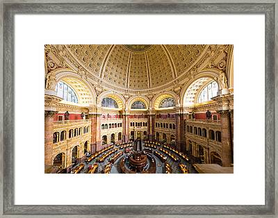 Library Of Congress I Framed Print by Robert Davis