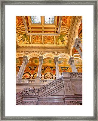 Library Of Congress II Framed Print by Steven Ainsworth