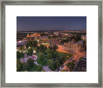 Library Park In Kck Framed Print