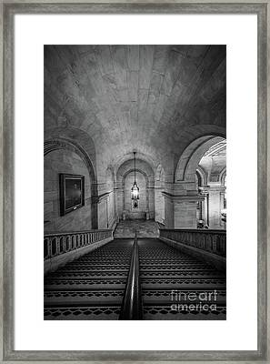 Library Staircase Framed Print by Inge Johnsson