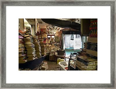 Libreria Acqua Alta Framed Print by Giuseppe Mauro Panzani