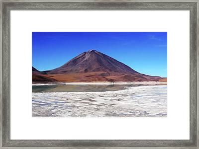 Framed Print featuring the photograph Licancabur Volcano, Bolivia by Aidan Moran