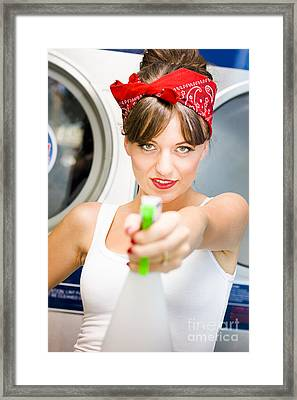 License To Clean Framed Print by Jorgo Photography - Wall Art Gallery