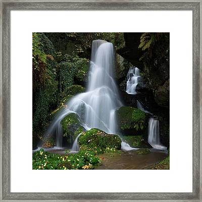 Lichtenhain Waterfall Framed Print