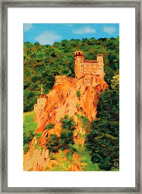 Framed Print featuring the painting Lichtenstein Castle by Deborah Boyd