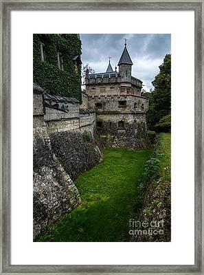 Lichtenstein Castle Moat - Baden Wurttemberg - Germany  Framed Print