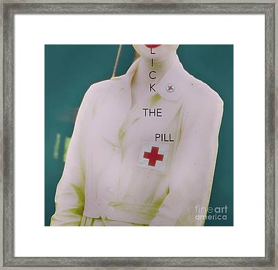 Lick The Pill  Framed Print by Steven Digman