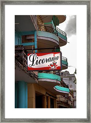 Framed Print featuring the photograph Licorama Bar Liquor Store In Havana Cuba At Calle 6 by Charles Harden