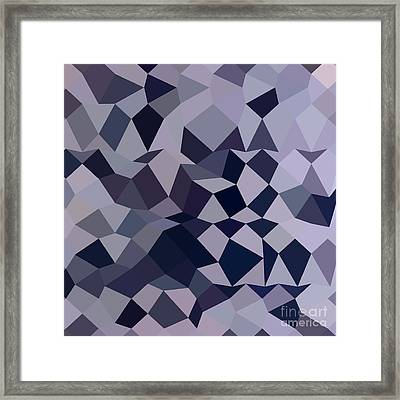 Licorice Black Abstract Low Polygon Background Framed Print by Aloysius Patrimonio