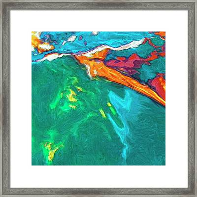 Framed Print featuring the painting Lies Beneath by Dominic Piperata
