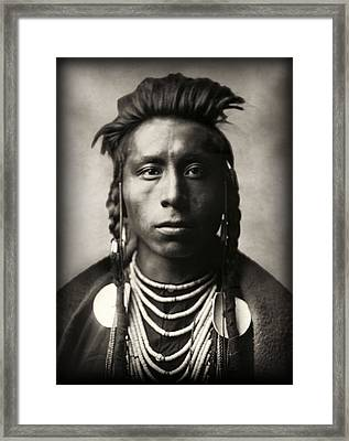 Lies Sideway - Crow Tribe 1908 Framed Print by Daniel Hagerman