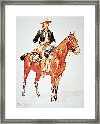 Lieutenant S C Robertson, Chief Of The Crow Scouts Framed Print by Frederic Remington