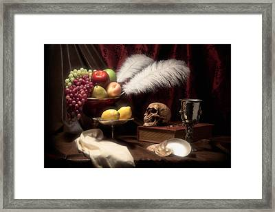 Life And Death In Still Life Framed Print
