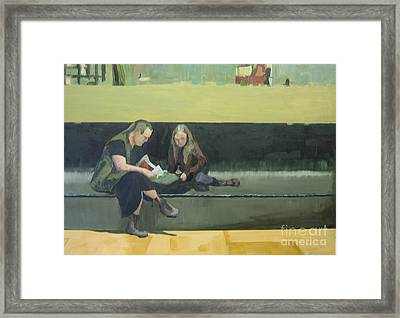 Life At The Metro Framed Print
