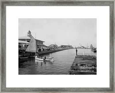 Life Boat Practice  New Orleans Ca 1890 Framed Print