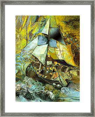Life Boat With Large Cargo  Framed Print by Anne Weirich