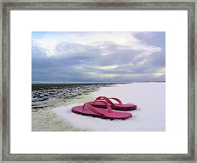 Life Can Be A Beach  Framed Print by Pamela Patch