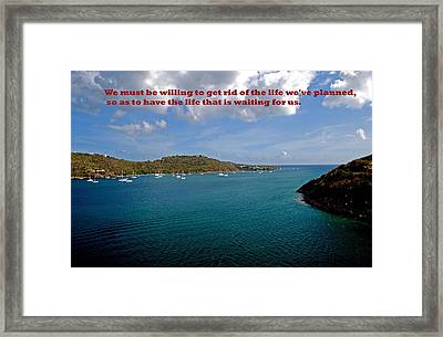 Life Changes Framed Print by Gary Wonning