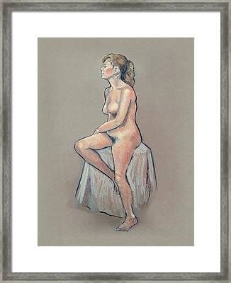 Life Drawing, Colour Pencil Framed Print