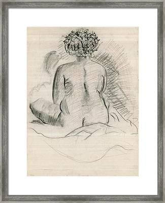Life Drawing Framed Print by Joseph  Arico