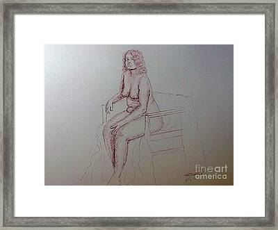 Life Drawing Nude Lady Framed Print