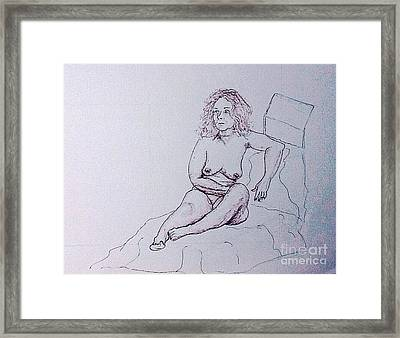 Life Drawing Nude Framed Print