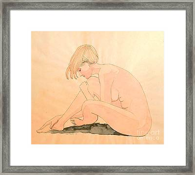 Life Drawing Watercolor Framed Print by Fred Jinkins