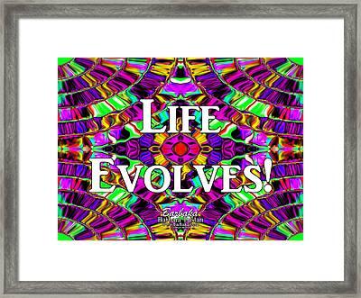 Life Evolves Framed Print by Barbara Tristan