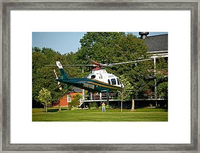 Life Flight Training Framed Print by Faith Harron Boudreau