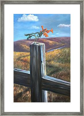 Framed Print featuring the painting Triumphant by Randol Burns