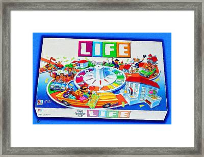Life Game Of Life Board Game Painting Framed Print