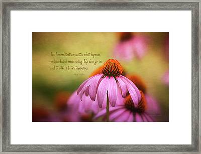 Life Goes On  Framed Print by Maria Angelica Maira