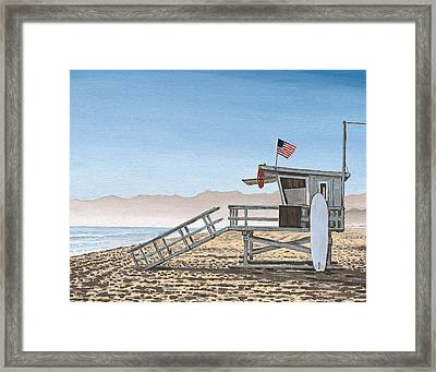 Life Guard Tower Framed Print by Andrew Palmer
