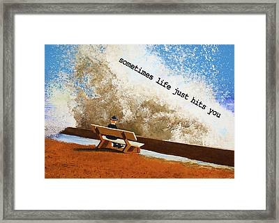 Life Hits You Greeting Card Framed Print by Thomas Blood