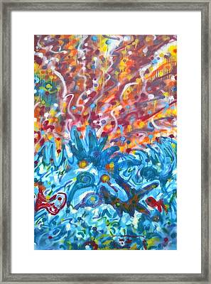 Framed Print featuring the painting Life Ignition Mural V2 by Julia Woodman